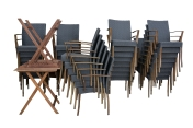 Stacks of Chairs Image
